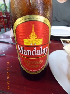 My first Mandalay beer