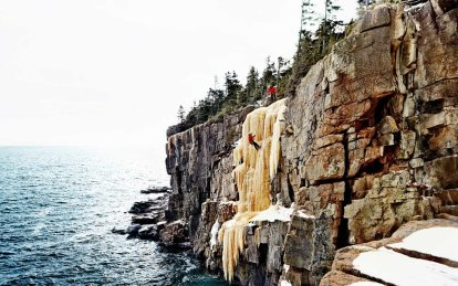 WINTER ICE CLIMBING IN ACADIA PARK
