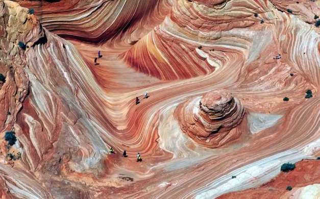 Aerial View of the Wave, Arizona